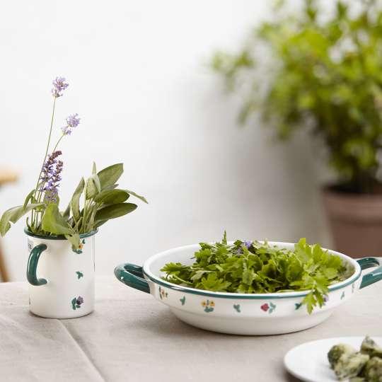 Riess COUNTRY Streublumen Küchenmaß und Bauernschüssel flach Ambiente