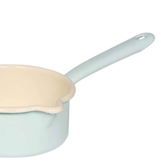 Riess Classic Pastell / Stielkasserolle, großer Ausguss, türkis
