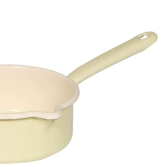 Riess Classic Pastell / Stielkasserolle, großer Ausguss, gelb