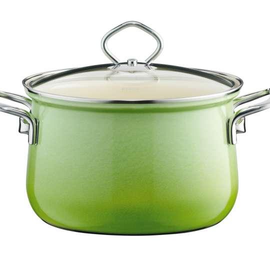 RIESS Nouvelle Smaragd Fleischtopf mit Glasdeckel