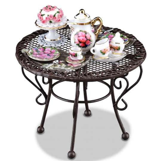Reutter Porzellan - Mini-Garten - 1.808/4 Gartentisch Rosentorte