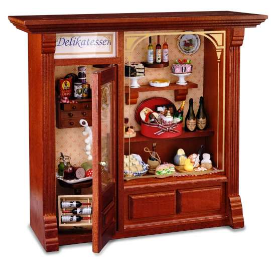 Reutter Porzellan Miniaturen - Liebe geht durch den Magen - 1.797/0 Wandbild Delikatessenladen