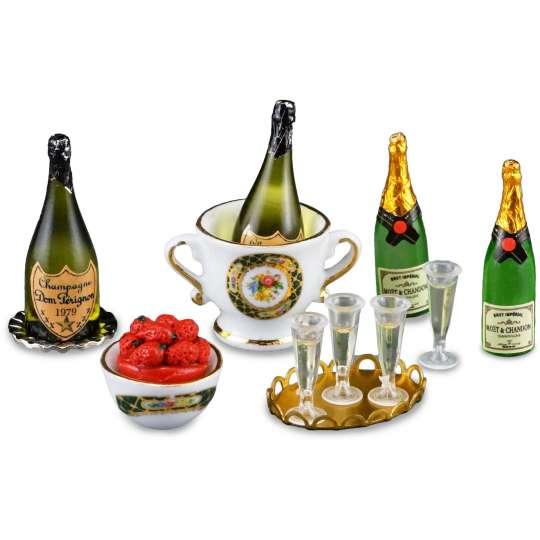 Reutter Porzellan Miniaturen - Liebe geht durch den Magen - 1.892/6 Champagner Frühstück