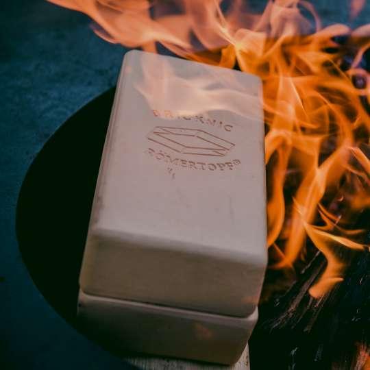 Römertopf: der Brick, Feuer , Milieu