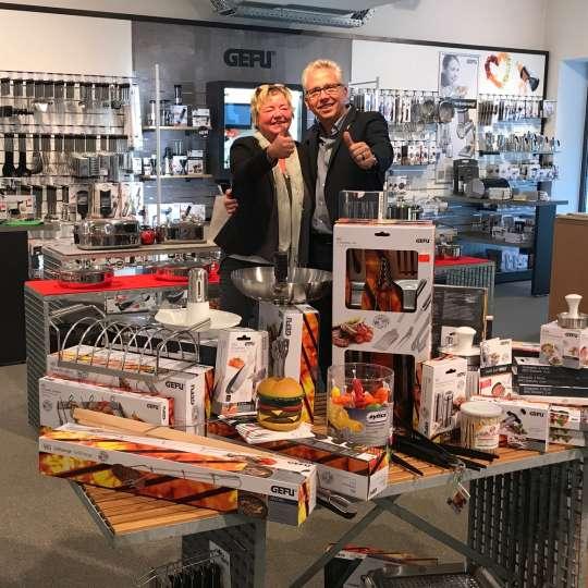 GEFU-Chef Rudolf Schillheim besucht das Fachgeschäft Hungerkamp