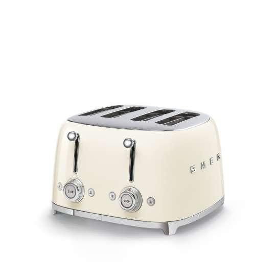 SMEG - 4-Schlitz-Toaster TSF03 - creme