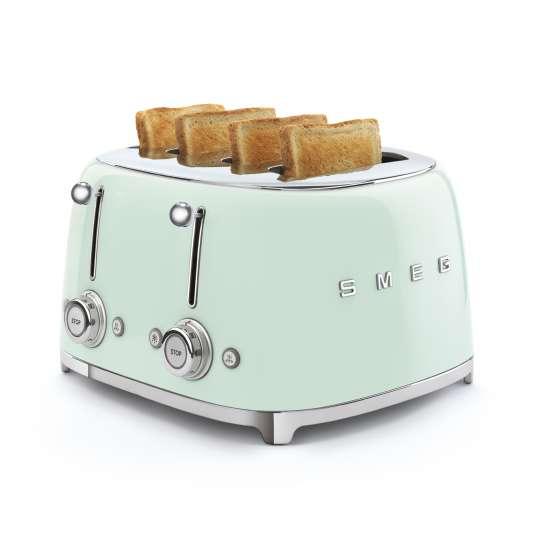 SMEG - 4-Schlitz-Toaster TSF03 - pastellgrün mood