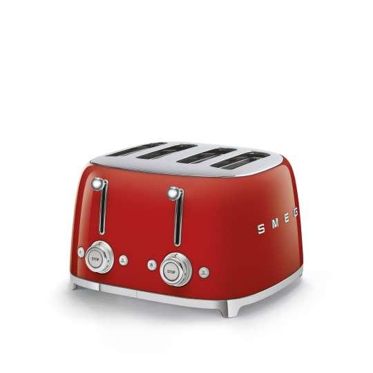 SMEG - 4-Schlitz-Toaster TSF03 - rot