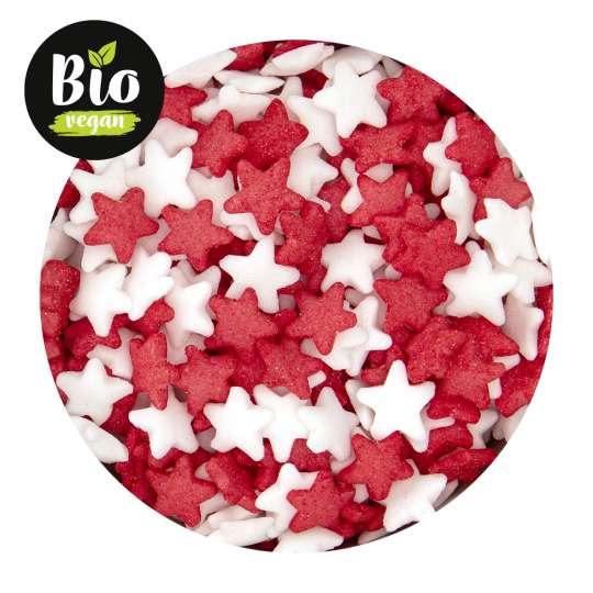 Städter: Bio-Streudekor Sterne Rot Weiß