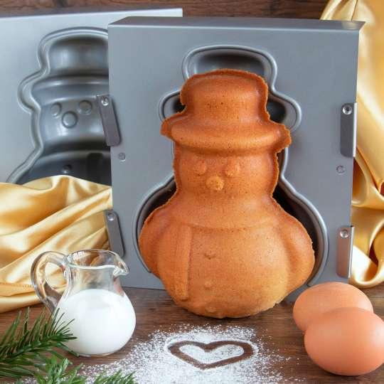 STÄDTER - 3D Backformen - we love baking SCHNEEMANN Form und Kuchen - Ambiente