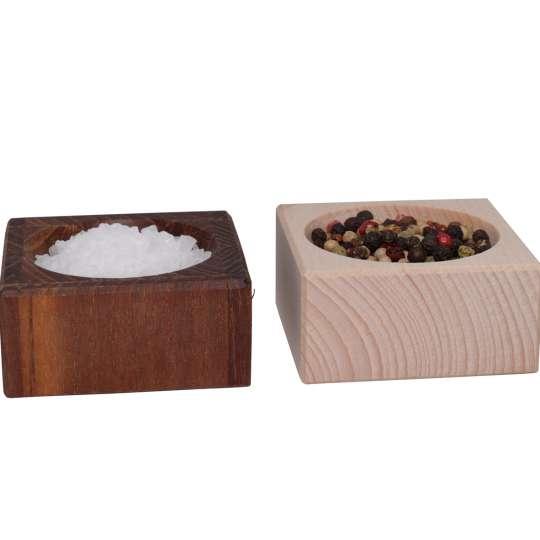 Scanwood Küchenholz - Salz- / Peffertopf klein SW3034 und SW2001