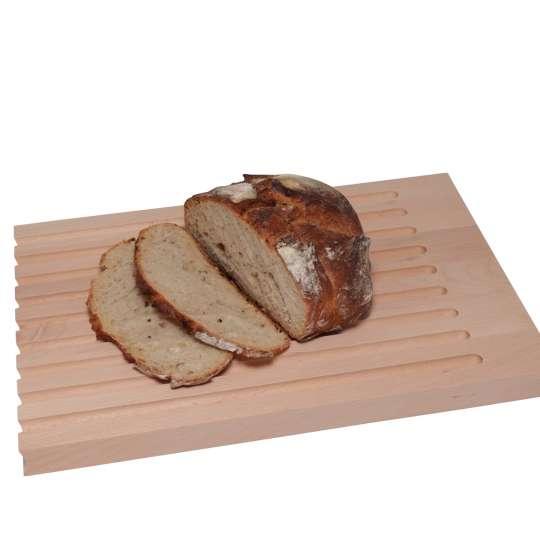 Scanwood Küchenholz - Fleisch- & Brotschneidebrett 2in1 - Rillen