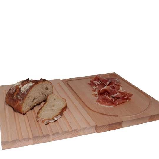 Scanwood Küchenholz - Fleisch- & Brotschneidebrett 2in1 - beide Seiten