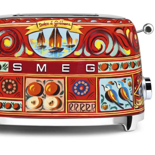 "Smeg / 2-Scheiben Toaster im Dolce & Gabbana Design ""Sicily is my Love"""