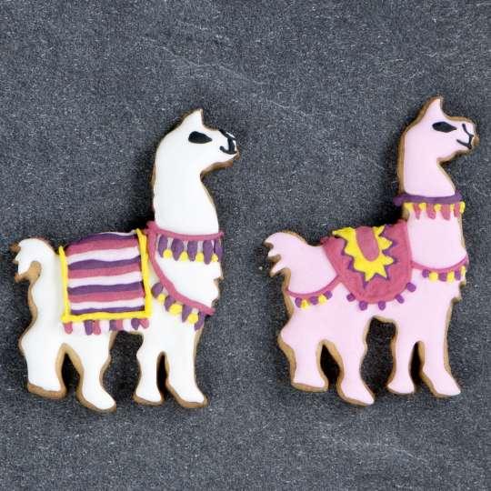 Städter Präge-Ausstecher Lama fertige Kekse