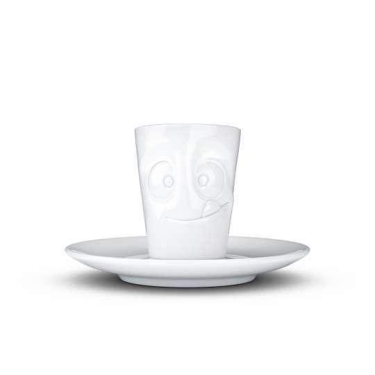 """58 Products Espresso Mug """"Lecker"""", Weiss T021401"""