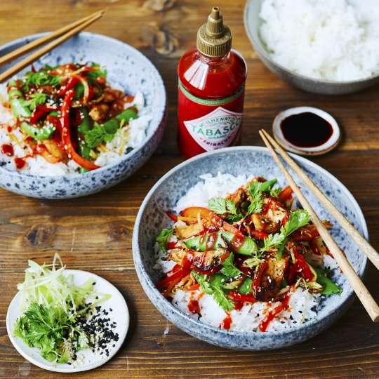 Sriracha-Sauce StirFry