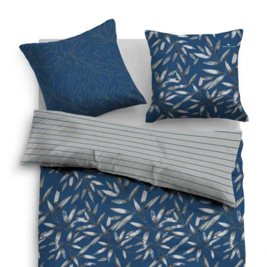 TOM TAILOR - Bedroom Floral - Linon Bed Linen blue