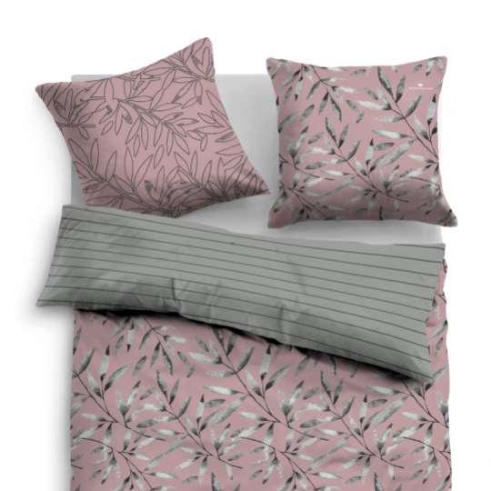 TOM TAILOR - Bedroom Floral - Linon Bed Linen mauve