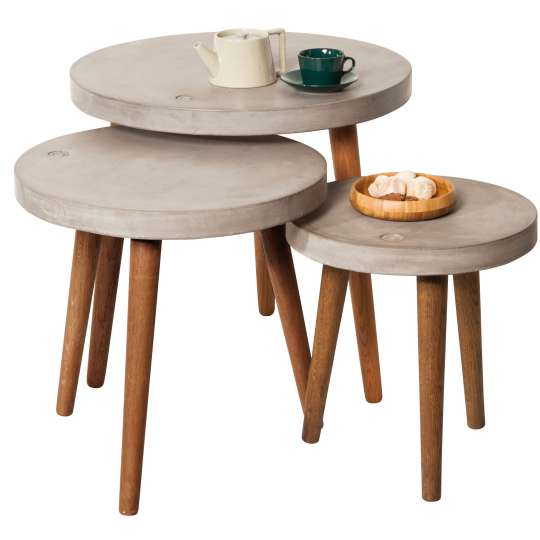 TOM TAILOR - Dining Nature & Mint - Concrete Round Tables