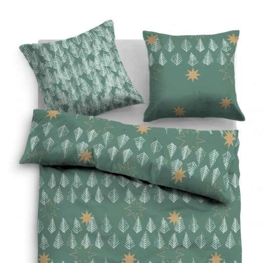 TOM TAILOR Linon Bed Linen green