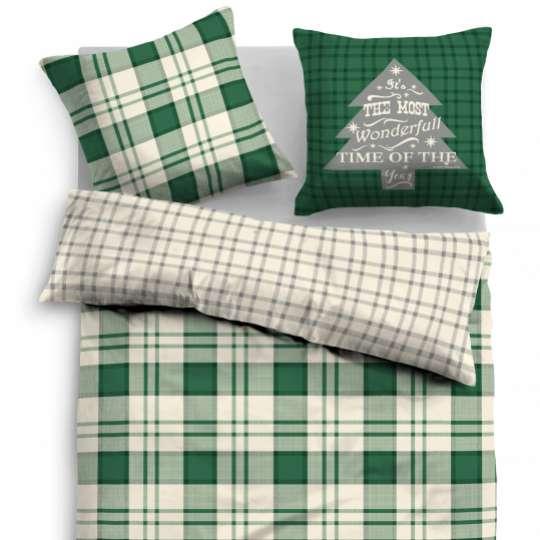 TOM TAILOR Satin Bed Linen green