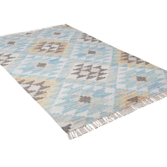 TOM TAILOR - Teppich VINTAGE - Check Kelim - turquoise multi 725