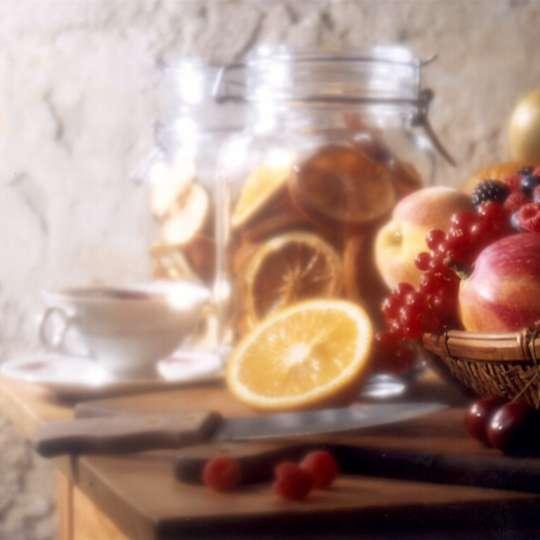 Aromatisierte Kräuter- und Früchtetees