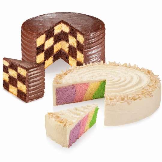 Schachbrettkuchen - gebacken mit Delicia Trennring von Tescoma