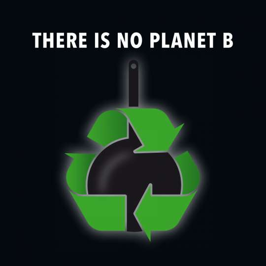 Scanpan - Nachhaltigkeit / Logo 'there is no planet b'