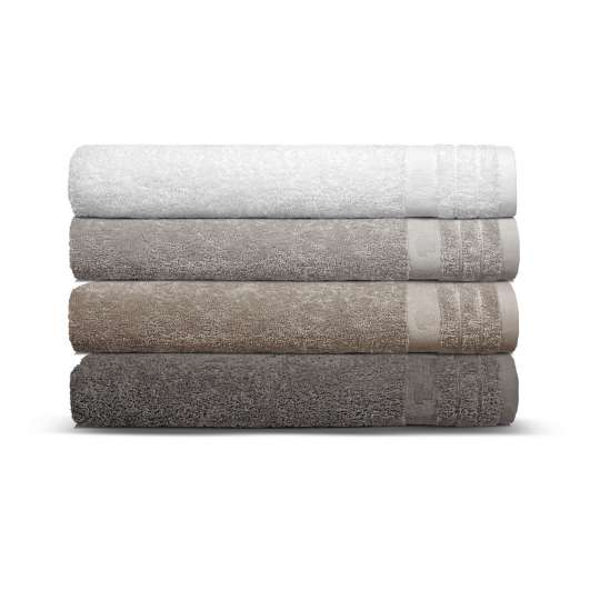 Tom Tailor Home Uni Basic Handtücher white, silver, stone, dark grey