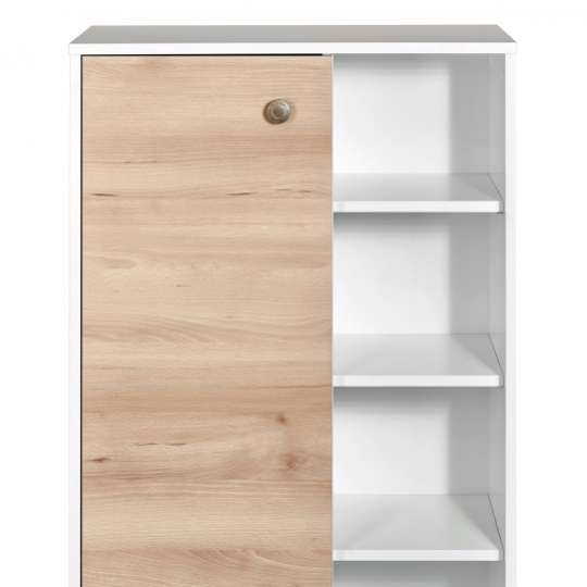 Tom Tailor Home Westcoast Wood White Highboard mit Tür & Fächern