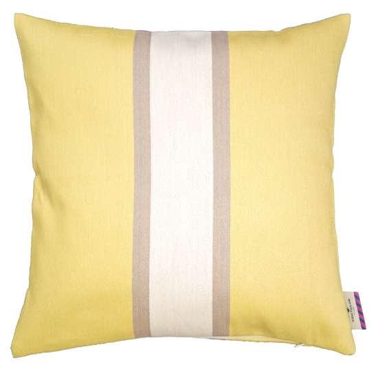 Tom Tailor Home Bold Stripe Kissenhülle beige/gelb