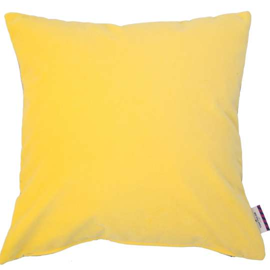 Tom Tailor Home Velvet Kissenhülle Doubleface gelb