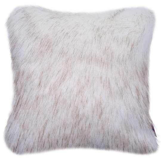 Tom Tailor Home Soft Fur Kissenhülle weiß/camel