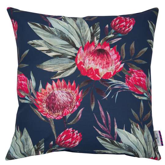 Tom Tailor Home King Protea Kissenhülle dunkelblau/pink