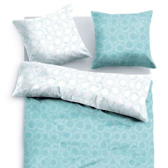 Tom Tailor Home Satin Bettwäsche aqua