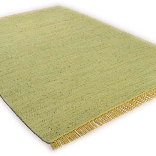 Tom Tailor Home Cotton Colors flacher Teppich lime