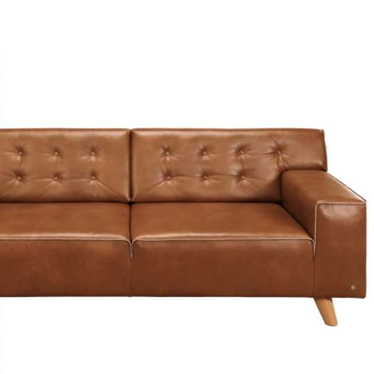 Tom Tailor Home Nordic Chic Sofa cognacfarbenes Leder