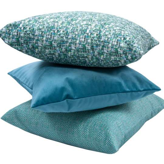 Tom Tailor Home Kissenstapel aqua/grey
