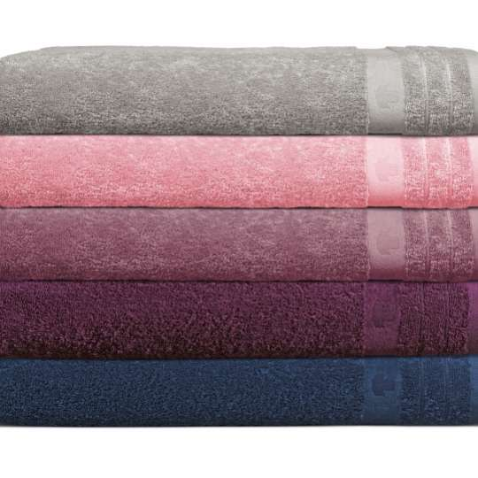 Tom Tailor Basic Towel, rosa / grau