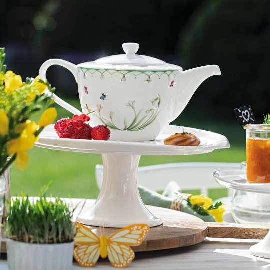 Villeroy und Boch -Liebe deine Zeit; Teekanne mit Blumendetails