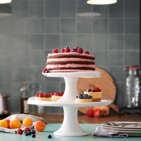 Villeroy und Boch Clever Baking Kuchenplatten auf Fuß Milieu