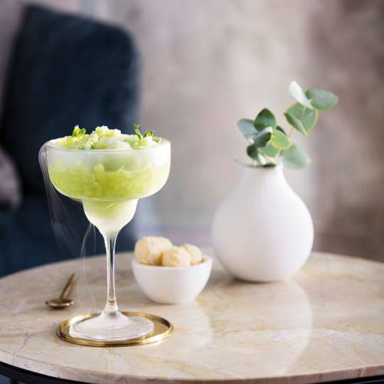 London-Mule Cocktail dekoriert