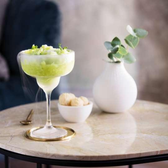 Villeroy und Boch serviert: London-Mule Cocktail, dekoriert