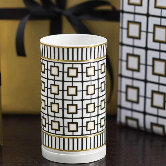 MetroChic Vase weiss Art Deco