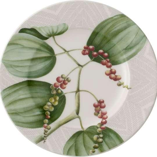 Malindi Teller mit Pfeffer-, Nelken- und Ingwerpflanzen 1043832660