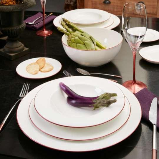Anmut Rosewood gedeckter Tisch mit Kristallglas Milieu