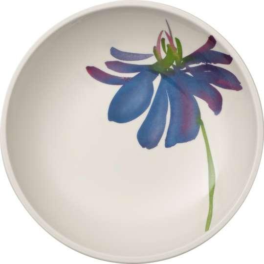 Artesano Flower Art: flache Schale mit Blume, blau - Art.-Nr. 1042512536