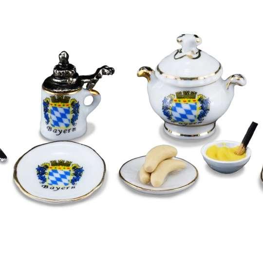 Reutter Porzellan Miniaturen - 1.800/6 und 1.356/5 Weißwurstfrühstück